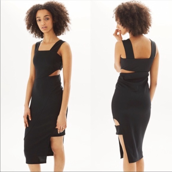 Topshop Dresses & Skirts - Topshop • Black Bodycon Cutout Midi Tank Dress